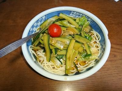 揚げ茄子とキュウリの冷静サラダパスタ.JPG
