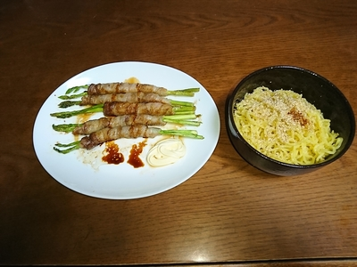 アスパラガス豚肉巻き.JPG