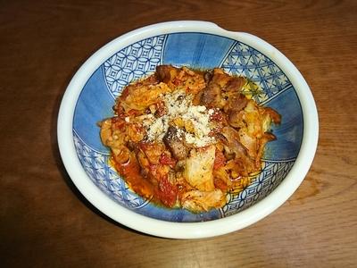 鶏肉とキャベツのトマト煮.JPG